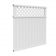 6-ft x 6-ft White Privacy Fence