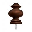 allen   roth Mahogany Wood Finials